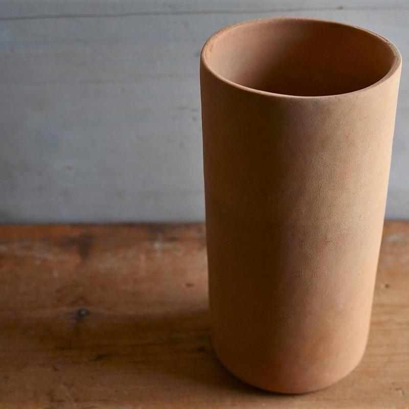 松本かおるさん 筒花器(1)