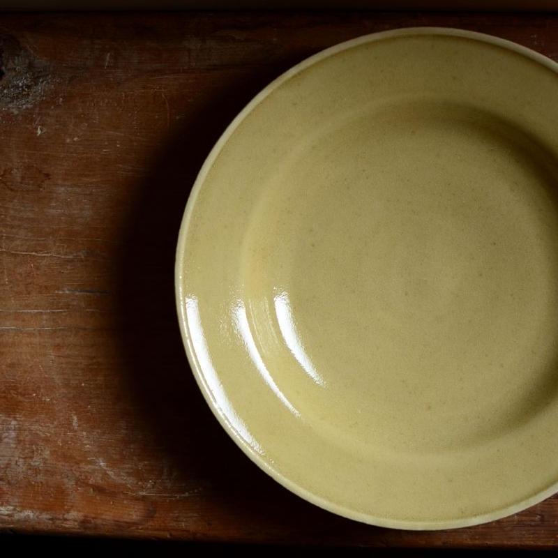 関口憲孝さん  スープ皿  薄い黄