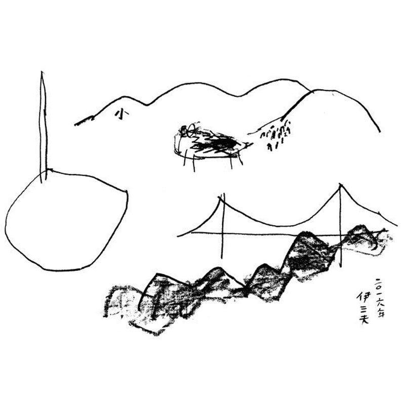 「『雲のうえ』10周年のために」作 牧野伊三夫
