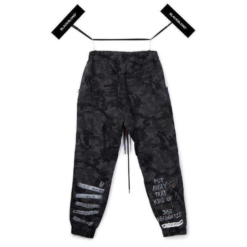 Blackblond BBD Graffiti Camo Jogger Pants (Grey)