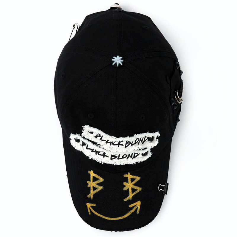 Blackblond BBD Big Smile Patch Logo キャップ (Black)