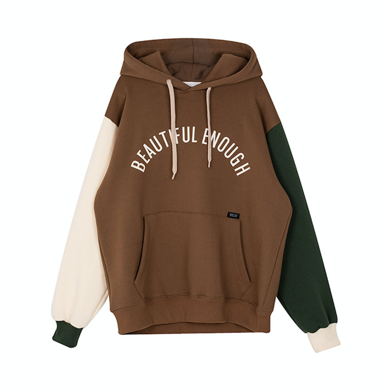 Motivestreet COLOR BLOCK HOOD (Brown)