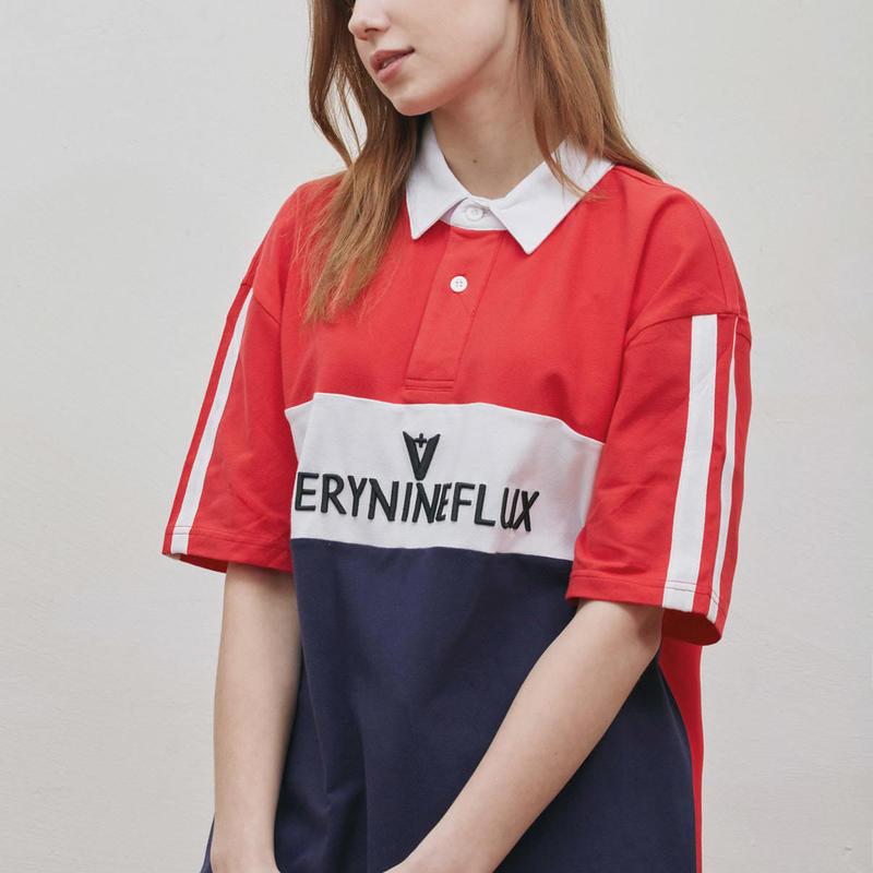 『Verynineflux』 シグネチャーPK Tシャツ (Red)