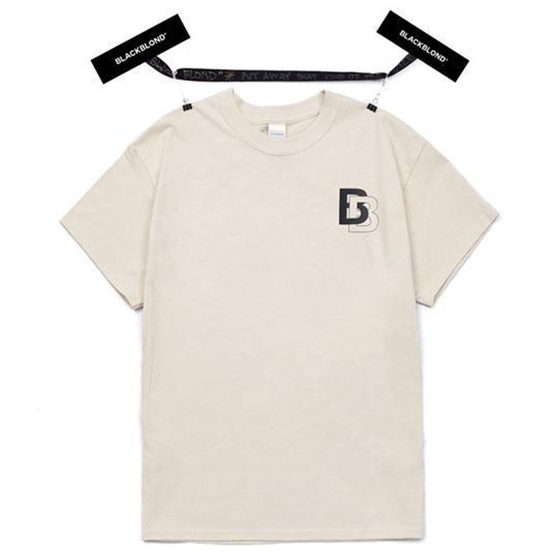 『BLACKBLOND』 ダブル B ロゴショートスリーブ Tシャツ (Sand)
