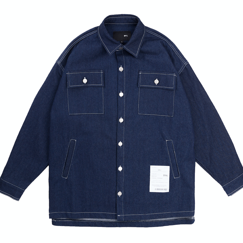 BY.L STITCH SHIRT ジャケット (Indigo)