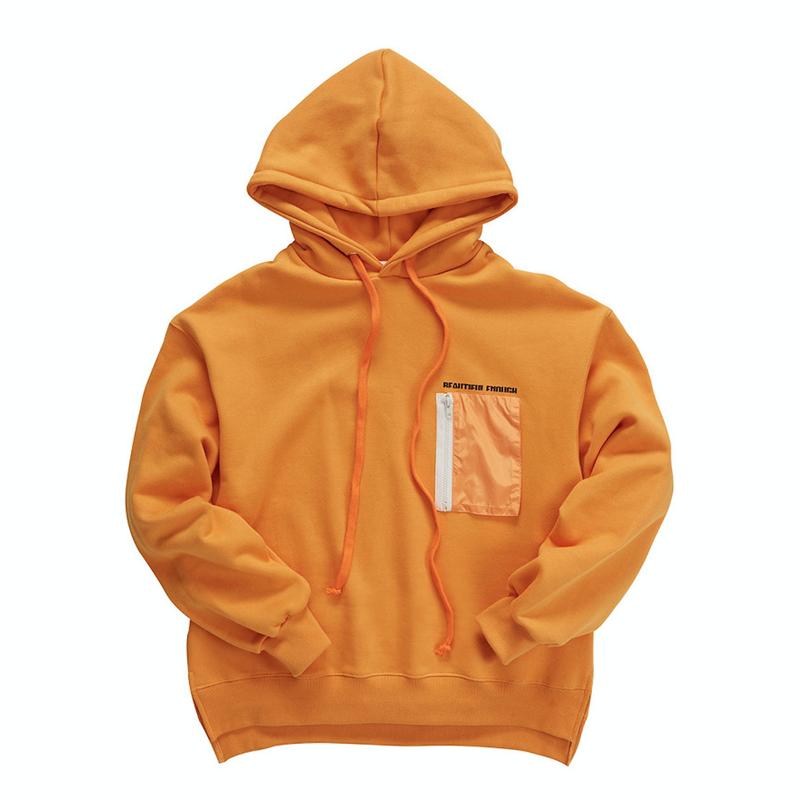 『Motivestreet』クレヨンポケットフードパーカー (Orange)