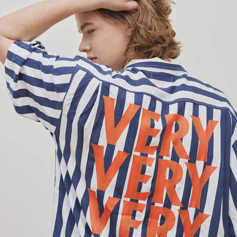 『Verynineflux』 ベリーショートスリーブシャツ (Blue)