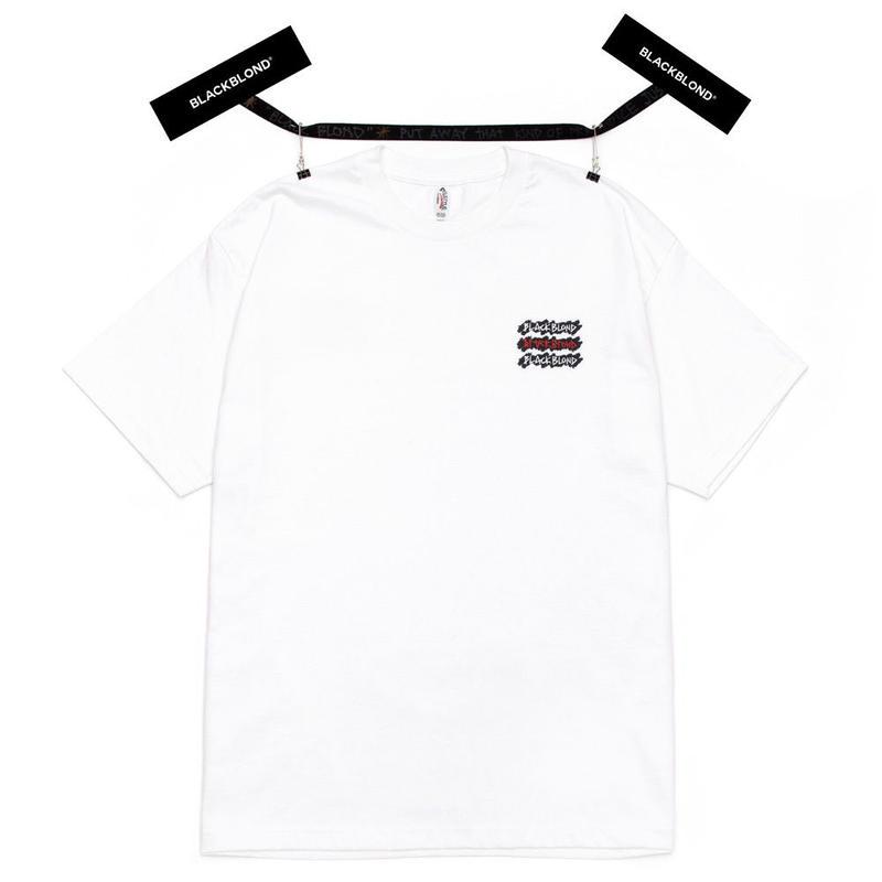 『BLACKBLOND』 グラフィティーロゴショートスリーブ Tシャツ (White)