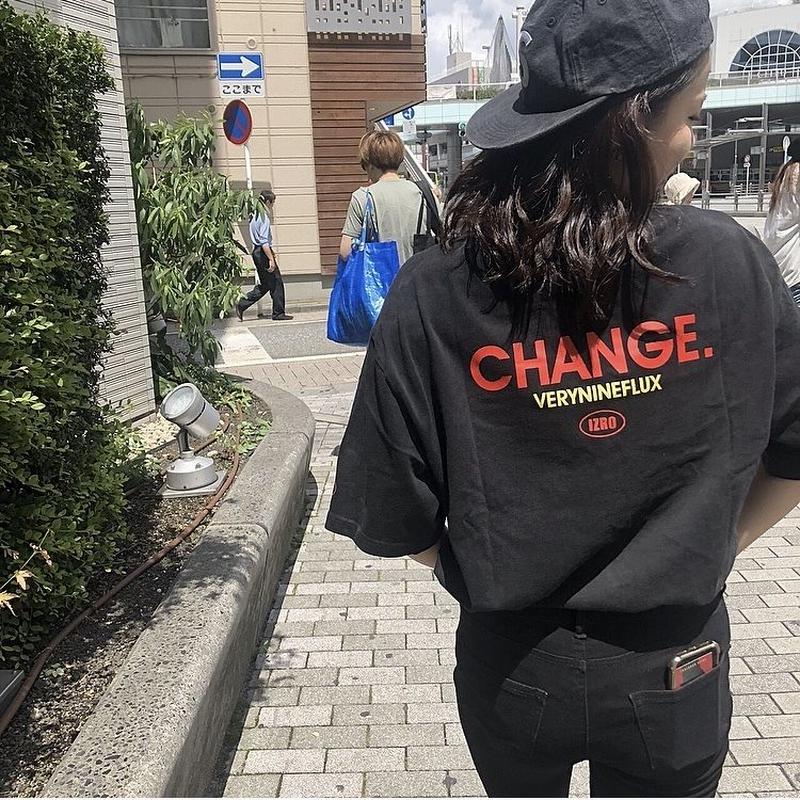 Verynineflux CHANGE PIGMENT T-SHIRT (Black)