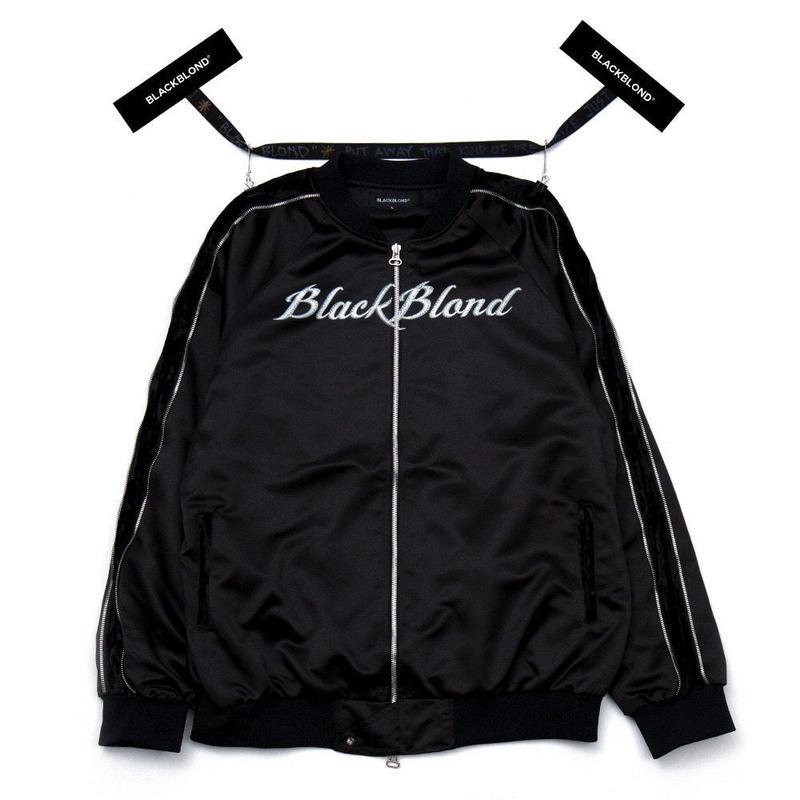 『BLACKBLOND』Front Logo Sukajan Jacket (Black)
