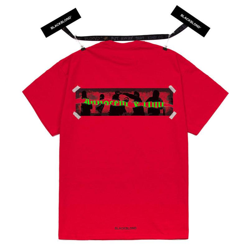 『BLACKBLOND』 イノセントクライムショートスリーブ Tシャツ (Red)