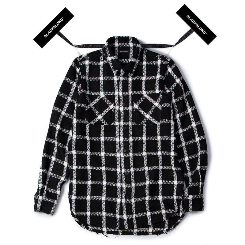 Blackblond BBD Plaid Tweed Shirt (Black)
