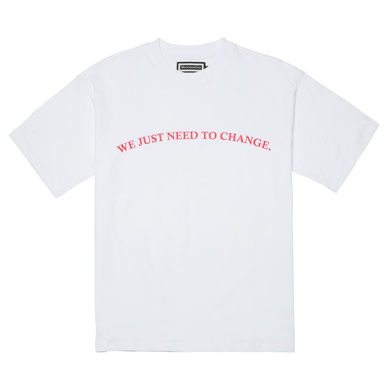 『Verynineflux』  ラウンド  Tシャツ (White)