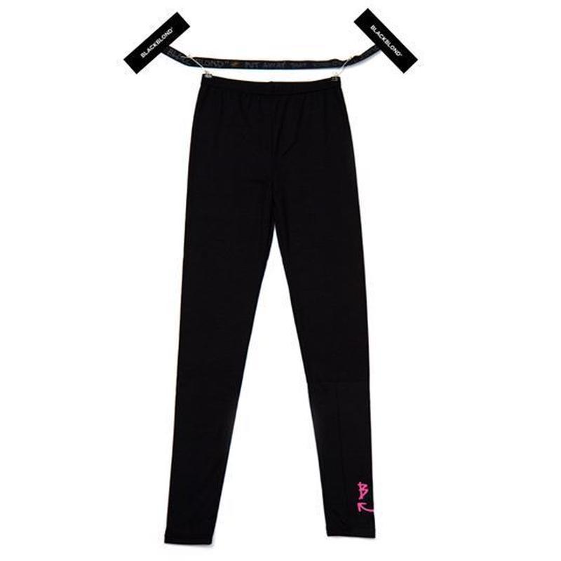 『BLACKBLOND』スマイルロゴレギンス (Black/Neon pink)