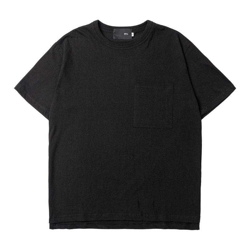 『 BY.L 』  ダブルネックポケット T (Black)