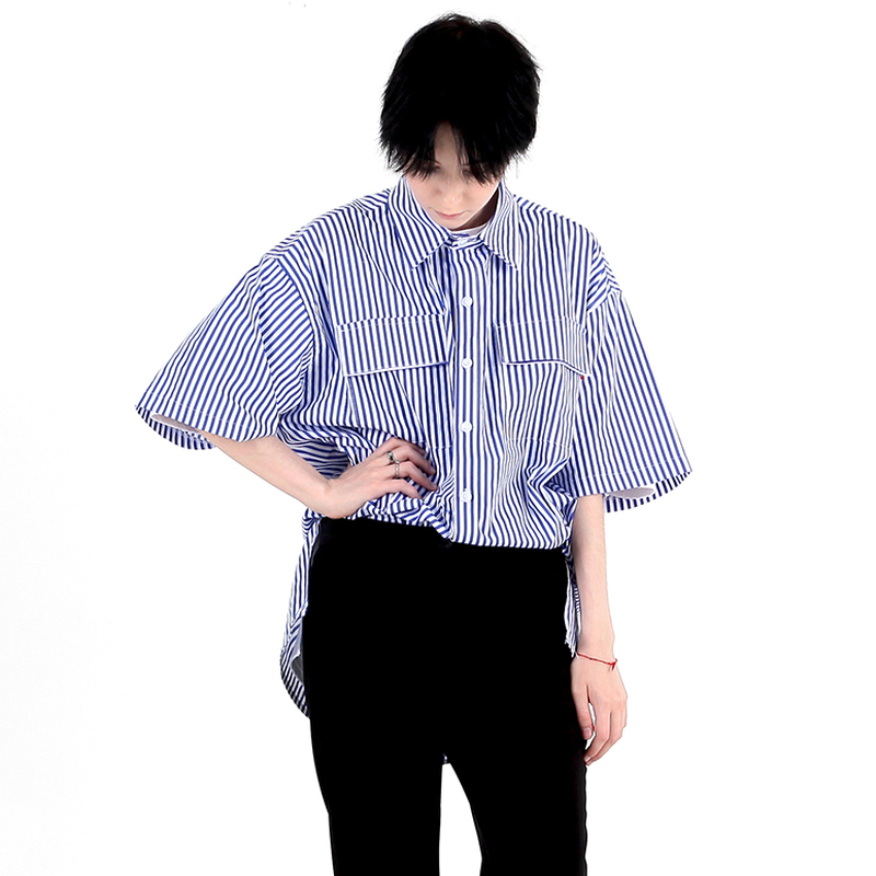 BY.L  OVERSIZE NOTCHILD ST SHIRT (Blue)