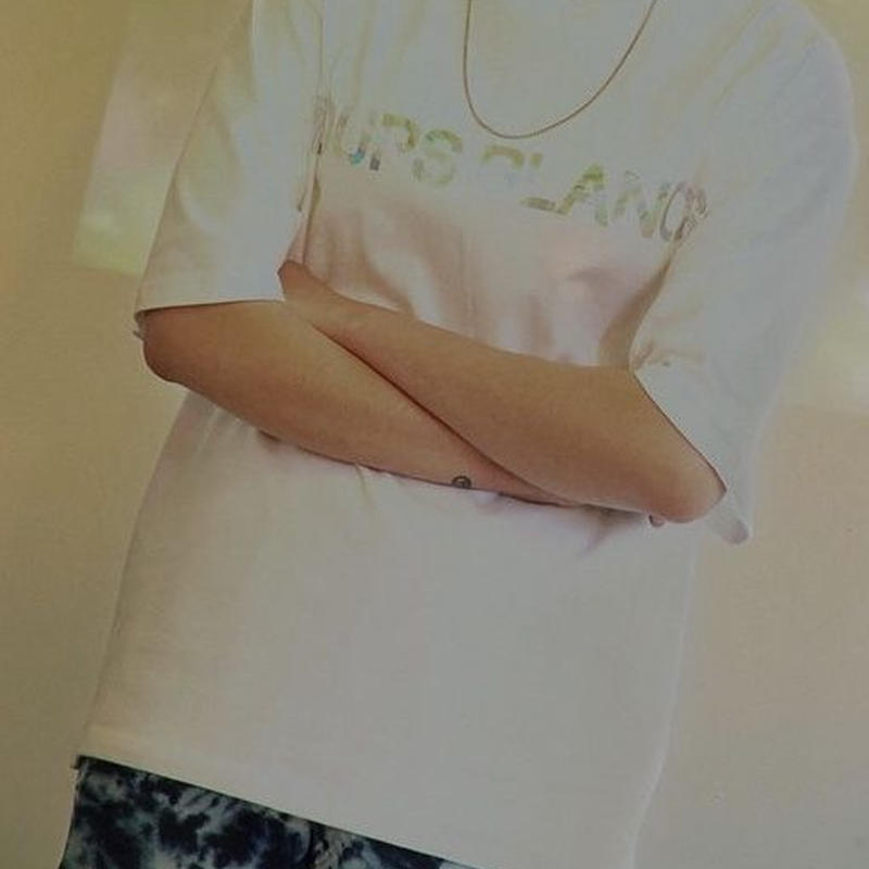 『LOUPS BLANCS』 ホログラムロゴ Tシャツ (White)