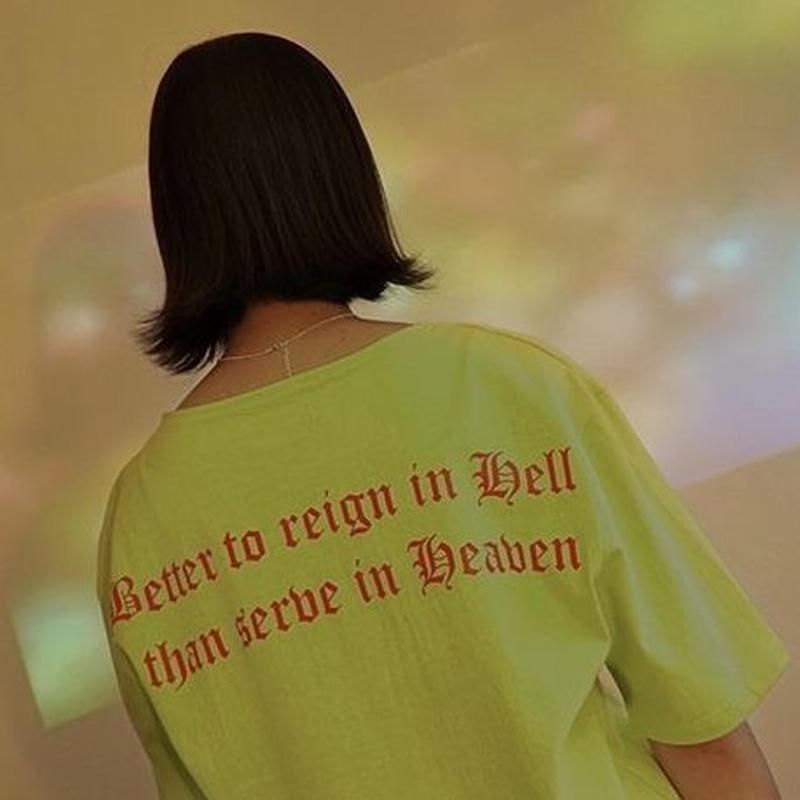 『LOUPS BLANCS』 ホットスタッフボートネック Tシャツ (Neon)
