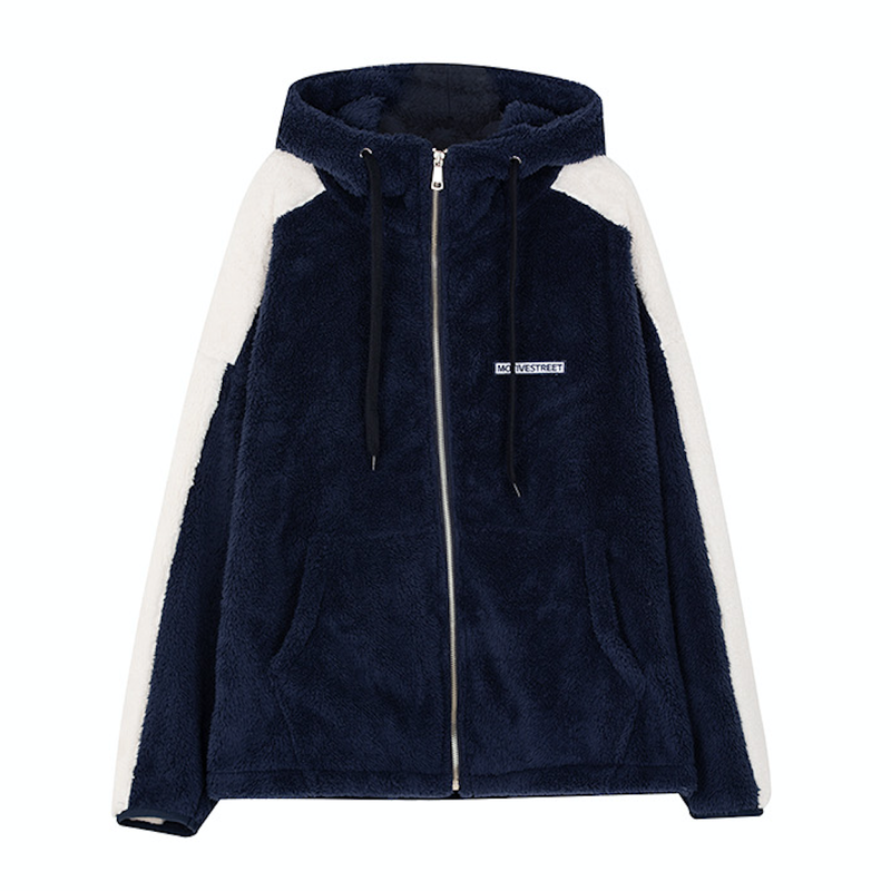 Motivestreet SIDE LINE FLEECE HOOD ZIPUP (Navy)