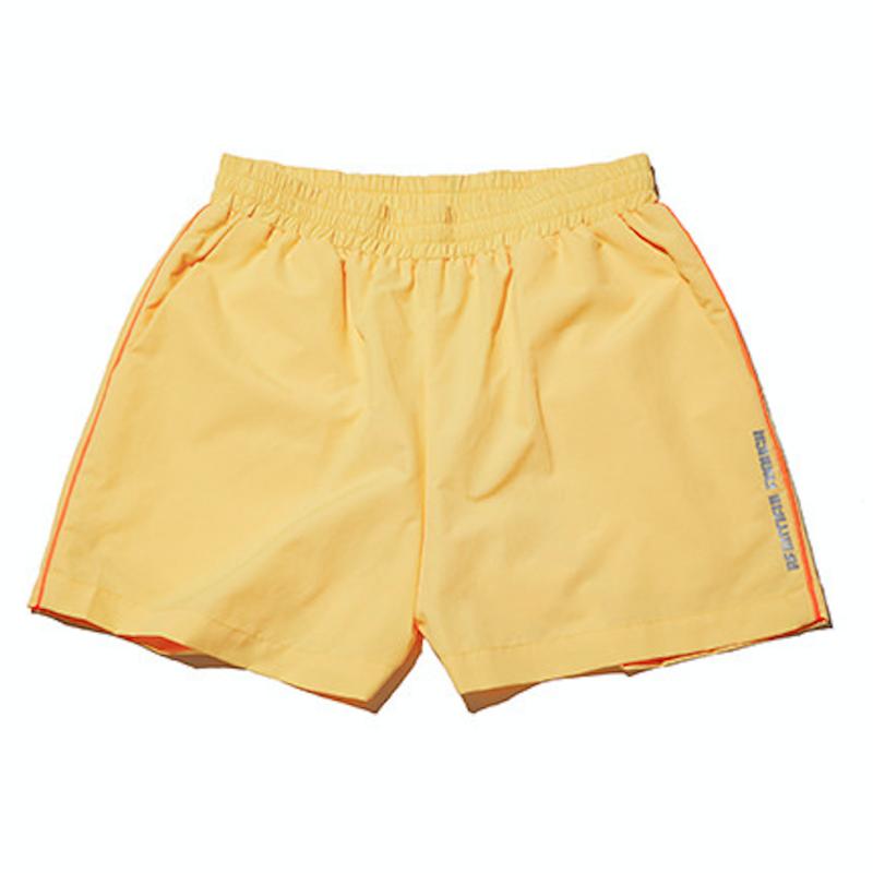 『Motivestreet』 カラーラインバギーズパンツ (Yellow)