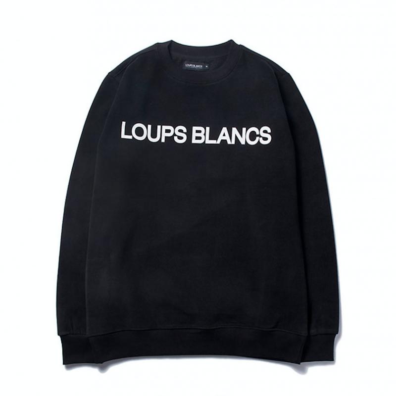 【再入荷】『LOUPS BLANCS』オリジナルロゴスウェットシャツ (Black)