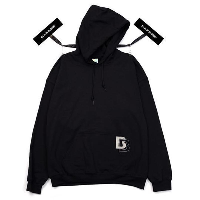『BLACKBLOND』ダブル B ロゴパーカー (Black)