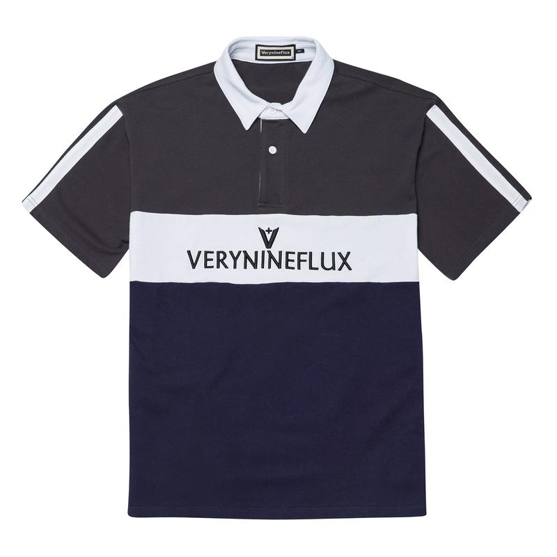 『Verynineflux』 シグネチャーPK Tシャツ (Charcoal)