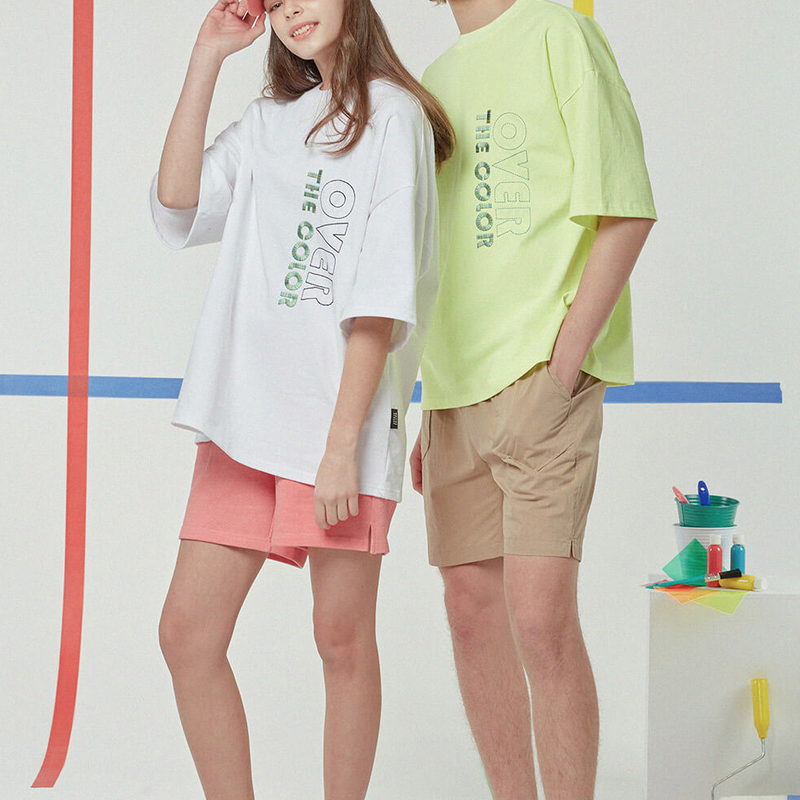 『Motivestreet』 デーリーエンボポイントオーバーサイズ Tシャツ (White)
