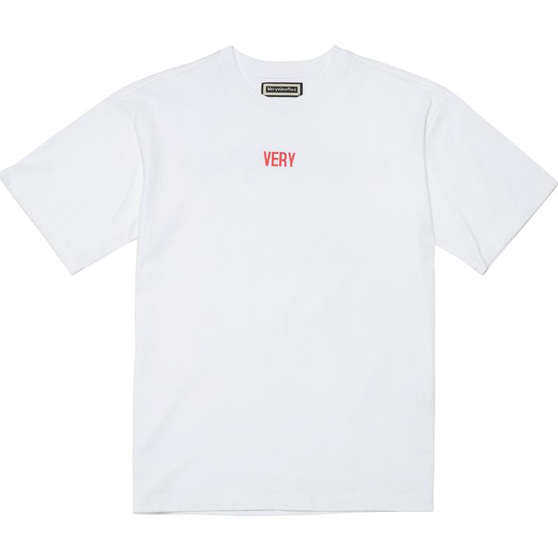 『Verynineflux』 ワールドワイド Tシャツ (White)