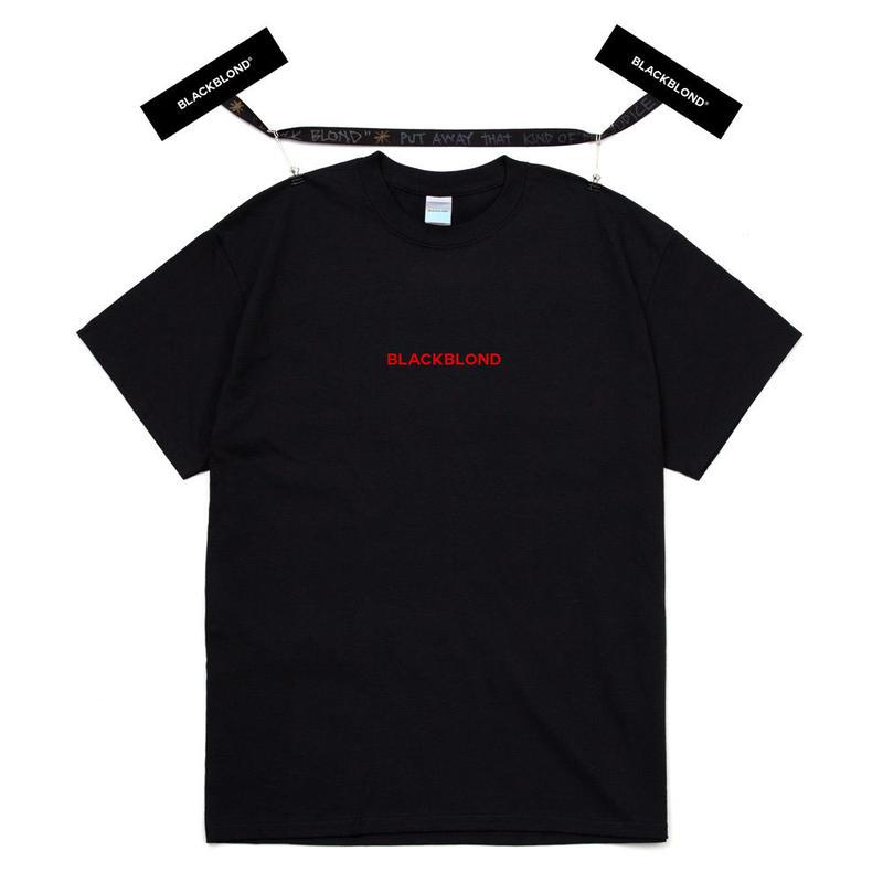 『BLACKBLOND』  オリジナルセンターロゴショーツスリーブ Tシャツ (Black)
