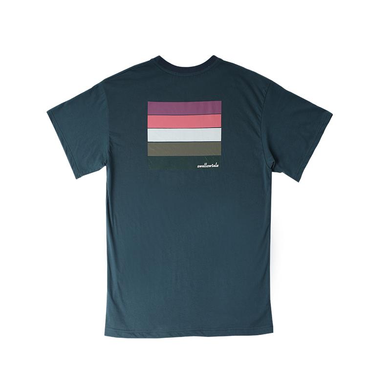 『Swallowtale』 ディープ Tシャツ (Cyan)