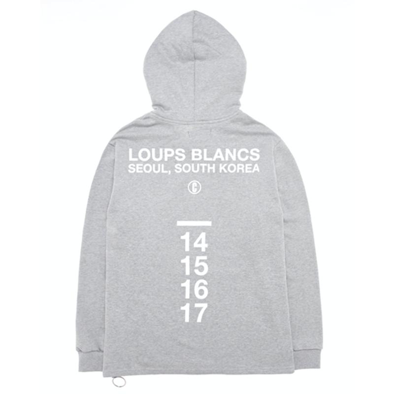 『LOUPS BLANCS』  サイドジッパーフード (Grey)