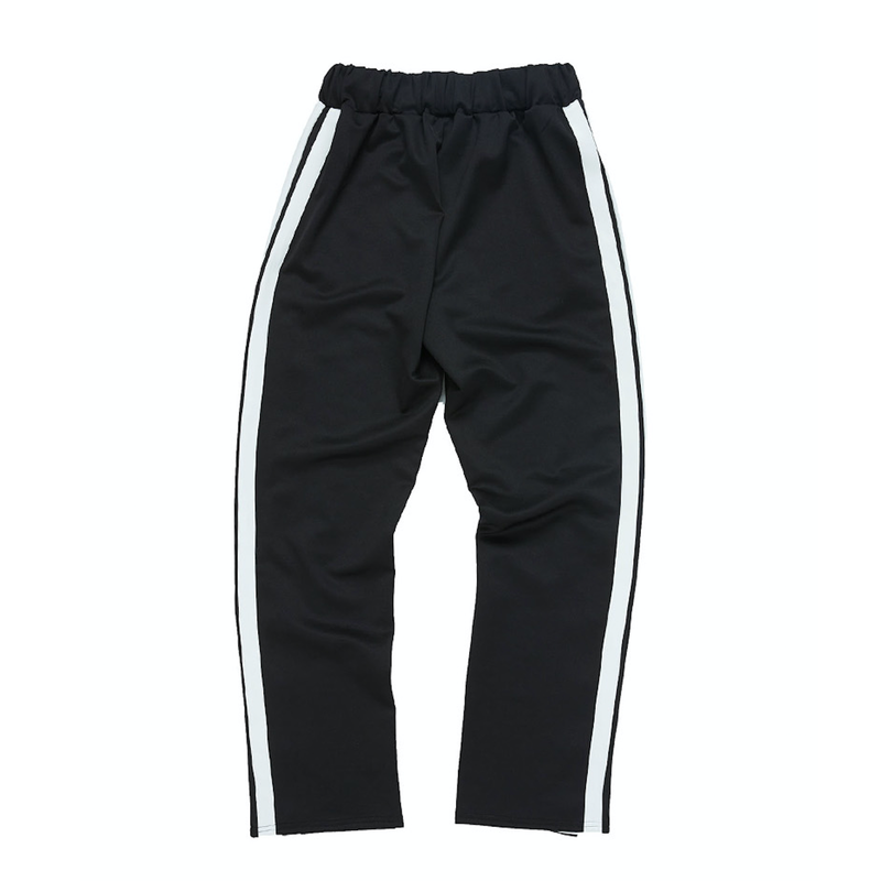 『Motivestreet』 HALF BUTTON TRACK PANTS (Black)