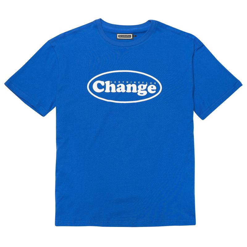 『Verynineflux』  オーバル  Tシャツ (Blue)
