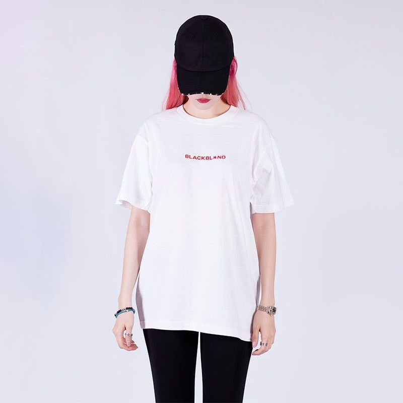 Blackblond  Basic Center Logo Tee (White)