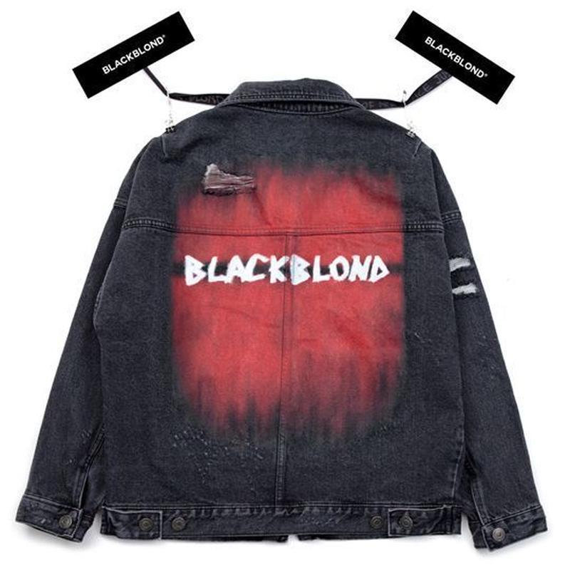 『BLACKBLOND』 ザ・ラストブラッドデニムジャケット (Charcoal)