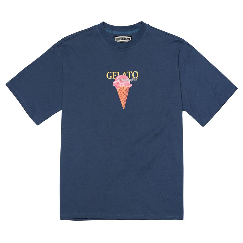 『Verynineflux』  MELLIFLUOUS  Tシャツ (Darkblue)