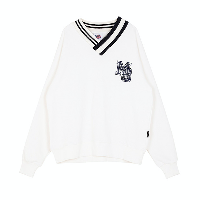Motivestreet V-NECK SWEAT SHIRT (Ivory)