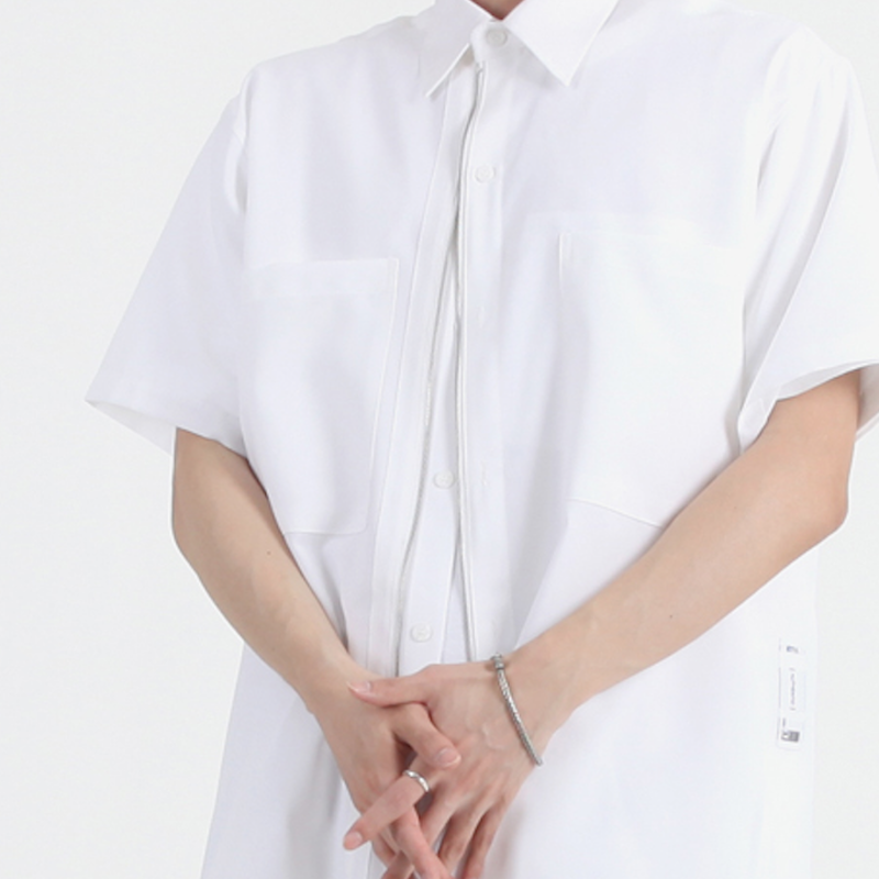 『 BY.L 』  ツーウエージッパーシャツ (White)