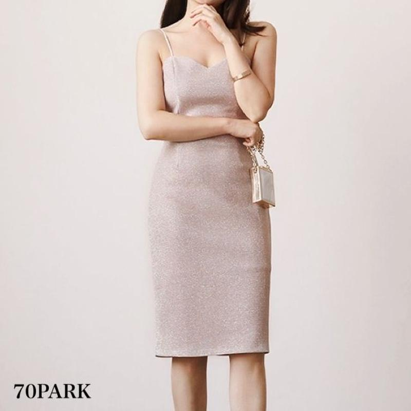 #Glitter Cami Dress グリッター タイト キャミ ワンピース パーティー
