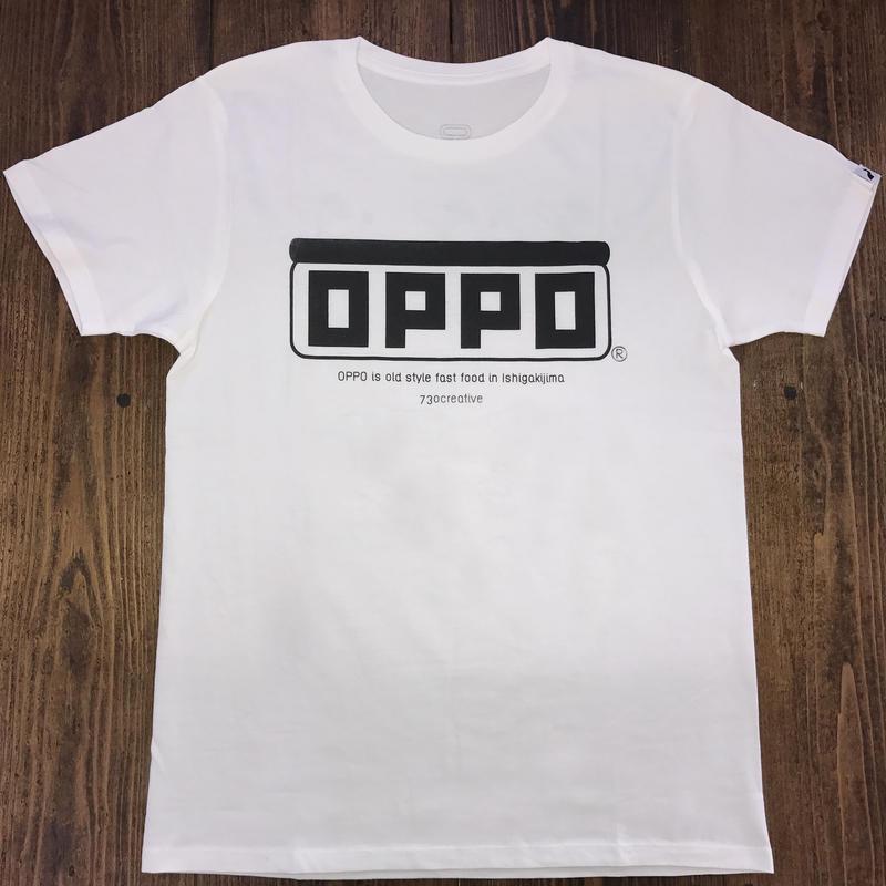 OPPO T-shirt   *handmade print ver.*  (ホワイト)