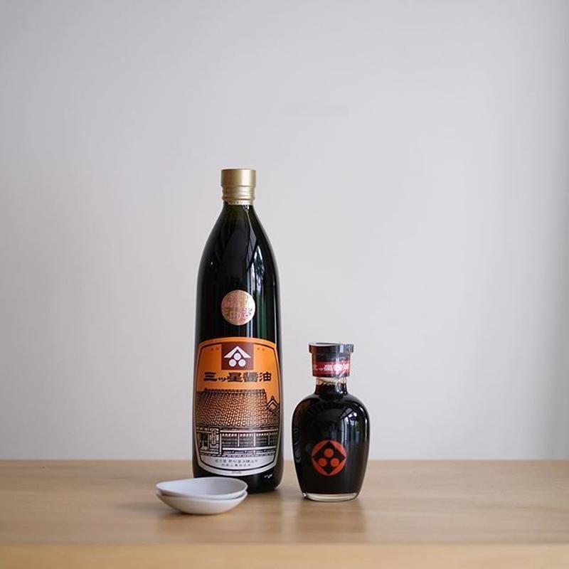 堀河屋野村|三ツ星醤油 200ml(醤油さし付)