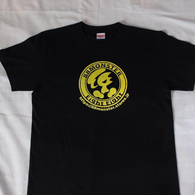 メインロゴTシャツ 黒/黄