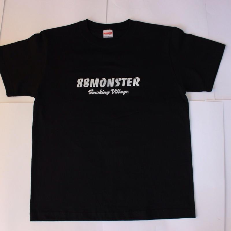 88MONSTER 文字ロゴTシャツ  黒/白