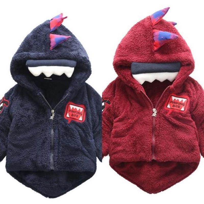 送料無料 モコモコ☆恐竜アウター  2color