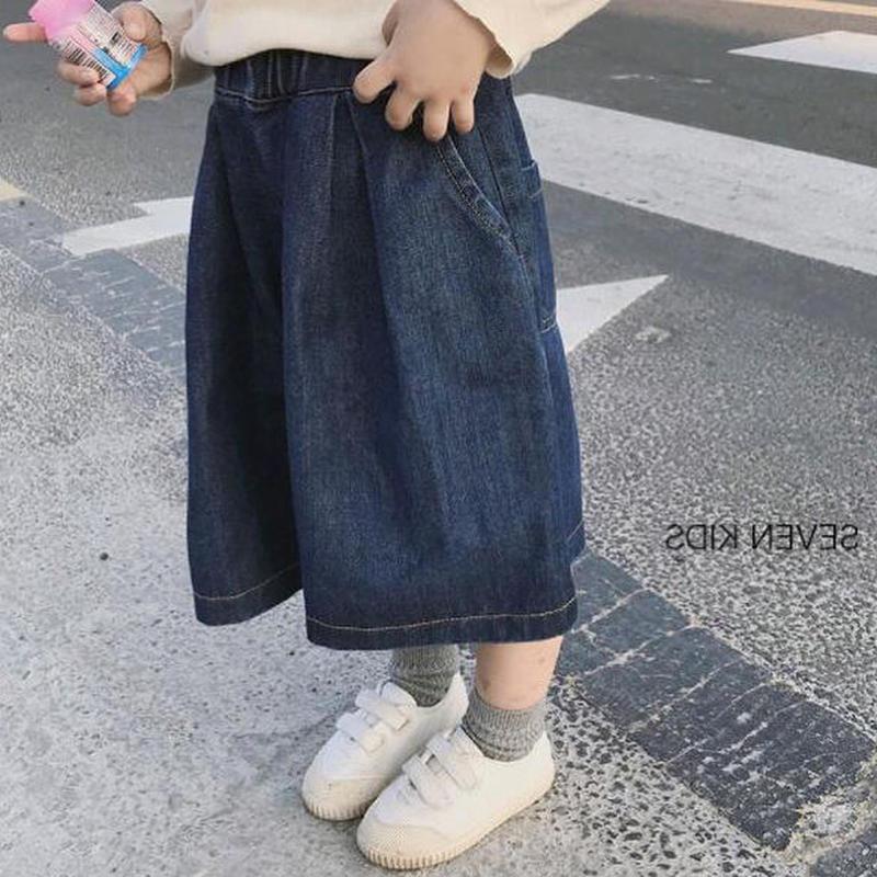 送料無料❤︎denim  wide  pants❤︎ミディアム丈デニムワイドパンツ