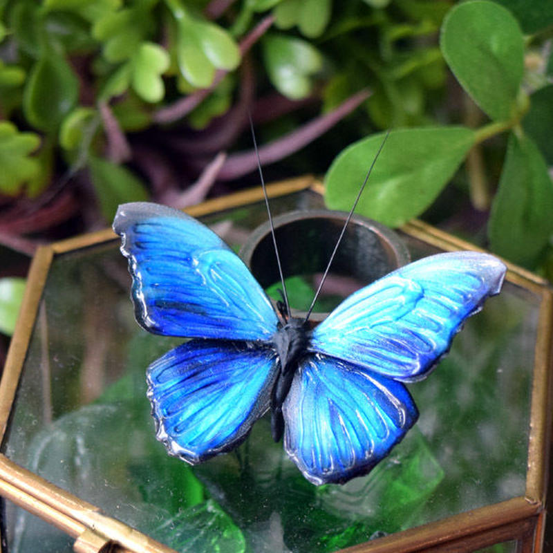蝶のオブジェ メネラウスモルフォ blue plus.col 2Ssize