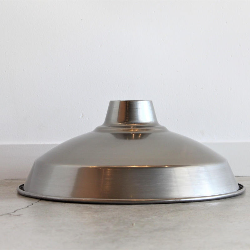 "LAMP SHADE 14"" brushed steel"