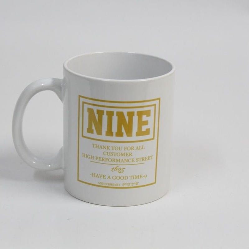 NINE 4TH ANNIVERSARY MUG