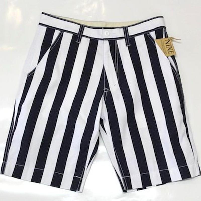 CANVAS#STRIPE SHORT PANTS